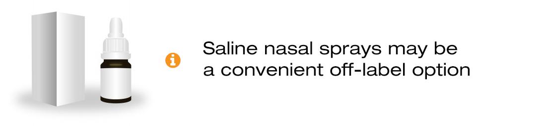 Saline nasal sprays for use as a skin treatment