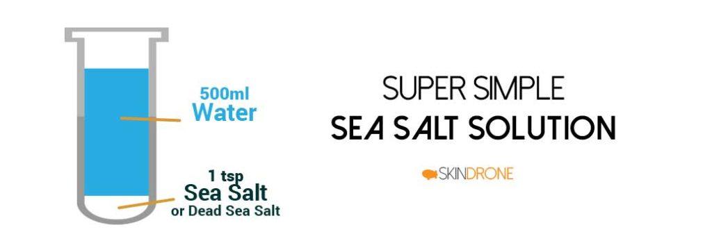 Sea Salt Soak for Seborrheic Dermatitis - Proportions Diagram