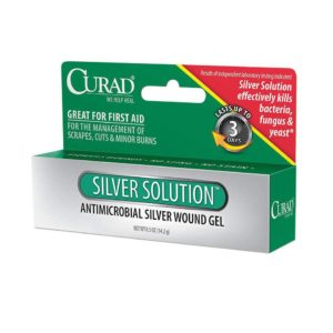 Outer package/box of Curad Silver Solution Antimicrobial Gel