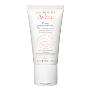 Front view of a tube of Eau Thermale Avène Skin Recovery Cream