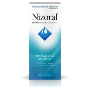 New packaging for the 200ml unit of Nizoral's ketoconazole based anti-dandruff shampoo