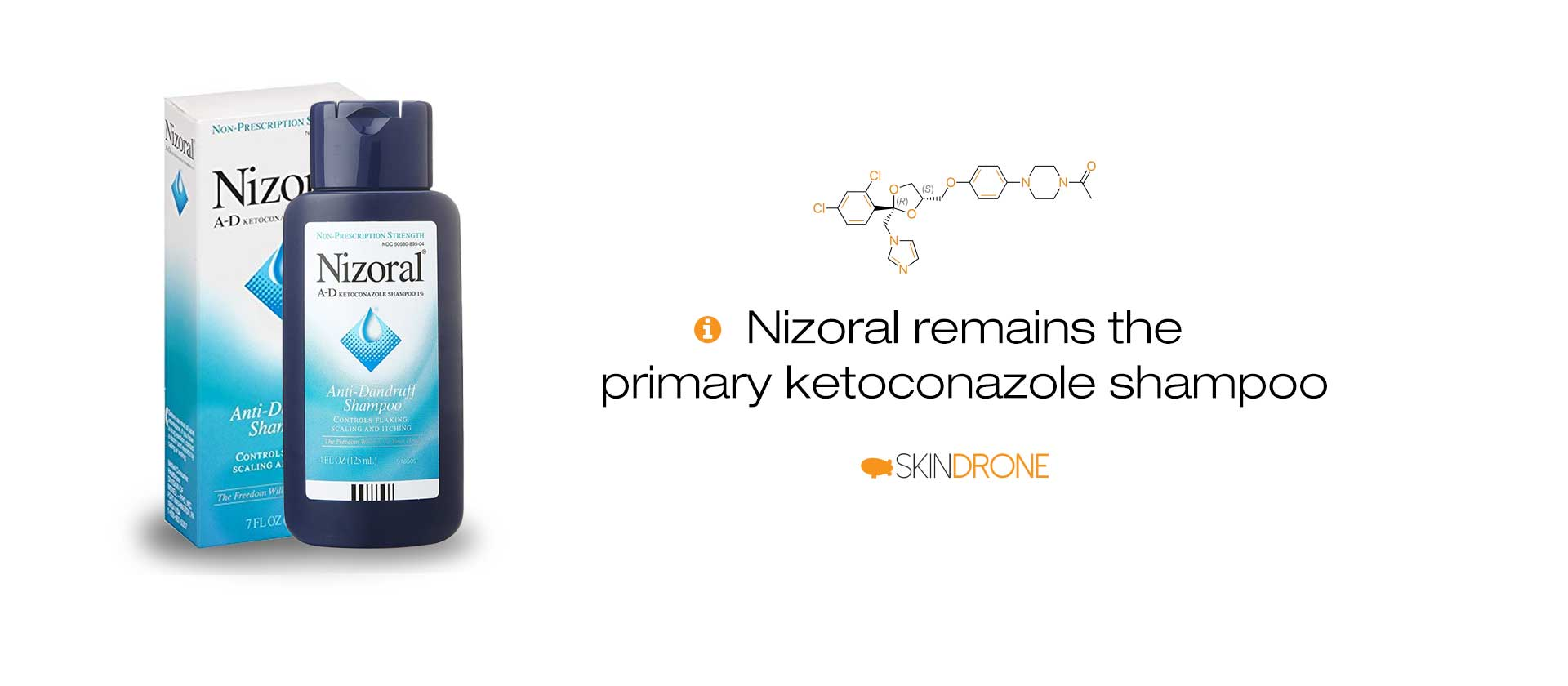 Nizoral anti-dandruff shampoo is the primary ketoconazole option for scalp seborrheic dermatitis