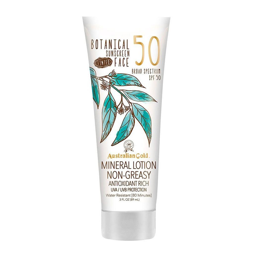 89ml tube of Australia Gold botanical sunscreen